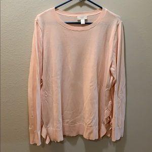 LOFT XL lightweight long sleeve knit sweater